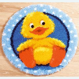 Little Duck - knooptapijt Vervaco  | Smyrna tapijt met badeendje | Artikelnummer: vvc-145324