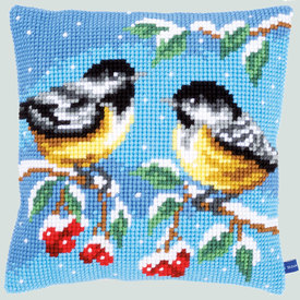 Birds in Winter - Vervaco Kruissteekkussen |  | Artikelnummer: vvc-155867