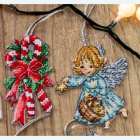 Christmas Toys 2 - borduurpakketjes met telpatroon Letistitch | set van 8 stuks | Artikelnummer: leti-8002