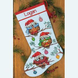 Holiday Hooties Stocking - borduurpakket met telpatroon Dimensions |  | Artikelnummer: dim-70-08951