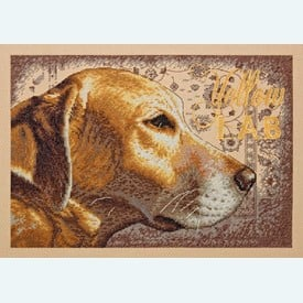 Yellow Lab - borduurpakket met telpatroon Dimensions |  | Artikelnummer: dim-35273