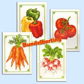 Vegetables Bundle - borduurpakket met telpatroon Vervaco |  | Artikelnummer: vvc-70881-3-5-6