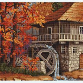 Autumn Landscape - borduurpakket met telpatroon Luca-S |  | Artikelnummer: luca-b481