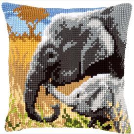 Elephant Love - Vervaco Kruissteekkussen |  | Artikelnummer: vvc-146813