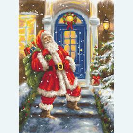 Santa Claus - borduurpakket met telpatroon Luca-S |  | Artikelnummer: luca-b563