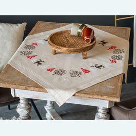 Modern Christmas Design theenap - voorgedrukt borduurpakket - Vervaco |  | Artikelnummer: vvc-186308