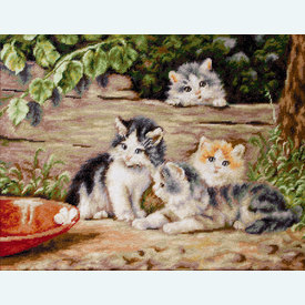 The Cats - borduurpakket met telpatroon Luca-S |  | Artikelnummer: luca-b556