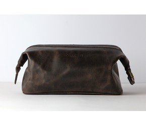 Washbag No 5-1 (M) | Dark-Brown | Artikelnummer: HR-WB-5-1-db