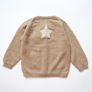 Cardigan with Star | 100% Cashmere, Colour: Beige Mélange | Code: 0715BC010102XXX