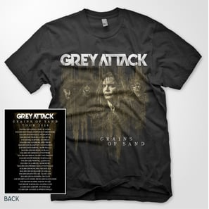 GREY ATTACK T-SHIRT - GRAINS OF SAND |  | Code: 700001