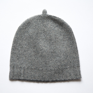 Basic Plain Hat | 100% Cashmere, Colour: Dark Grey Mélange | Code: 0716AH050182XXX