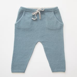 Baby Pants | 100% Cashmere, Colour: Ashley Blue | Code: 0716BP010151XXX