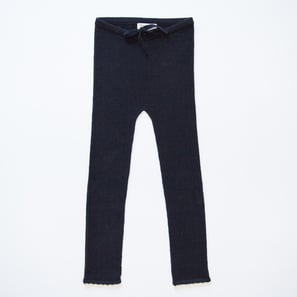 Baby Leggings with Ajour Pattern | 100% Cashmere, Colour: Dark Navy | Code: 0718BP050156XXX