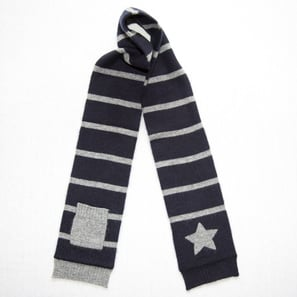 Scarf with Star and Pocket | 100% Cashmere, Colour: Dark Navy | Code: 0716AS010156XXX