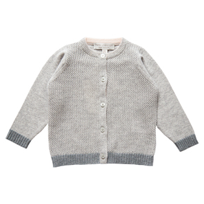 Ajour Cardigan | 100% Cashmere, Colour: Light Grey Mélange | Code: 0117BC020181XXX
