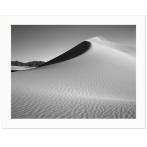 Shaped Dune on a Windy Day | Mesquite Flat Dunes, Death Valley National Park, California | Edition Print 24   unlimitiert | Bildnummer: IQ180_131030_026bw-24