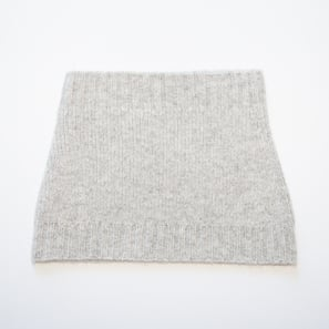 Basic Plain Loop Scarf | 100% Cashmere, Colour: Light Grey Mélange | Code: 0716AS050181XXX