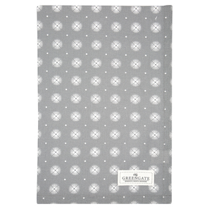 Greengate Saga warm grey | Tea towel Saga warm grey, Geschirrtuch, 50 x 70cm | Artikelnummer: COTTEASAG8312