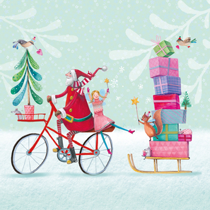 Papier Servietten Santa on Bike |  | Artikelnummer: 3332624