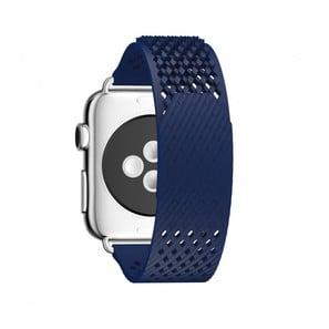 LABB Apple Watch Uhrenarmband von Noomoon | High-End Fluoroelastomer Kunststoff | Farbe blau | Artikelnummer: LABB blau