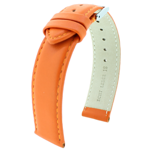 Uhrenarmband Moda Orange | Kalbslederarmband in modischen Farben | Artikelnummer: Moda orange