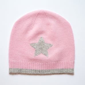 Hat with Star | 100% Cashmere, Colour: Light Rose | Code: 0715AH010131XXX