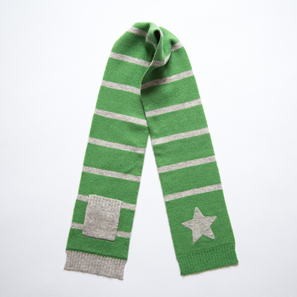 Scarf with Star and Pocket | 100% Cashmere, Colour: Green | Code: 0715AS010161XXX