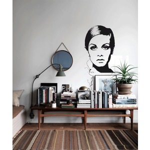 TWIGGY | Sixties Pop ART | Wandtattoo RETRO DESIGN  |  | Artikelnummer: 69204131