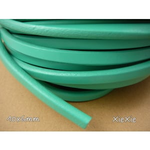 1m Regaliz Lederband 10x6mm mint |  | Artikelnummer: 54308183