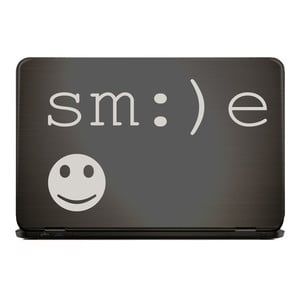 SMILE & SMILEY Notebook Sticker Laptop Aufkleber  |  | Artikelnummer: 102379843