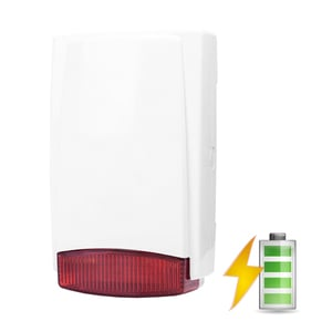 Wireless outdoor siren in plastic housing - battery power with radio transmitter |  | Code: 8169-2