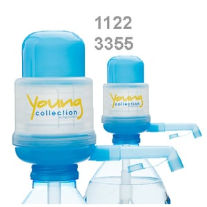 Agua Quick  Young Collection Blau plus |  Pumpe für Flaschen mit Code 3355 und 1122 | Artikelnummer: 2 x -YCB 01A BN