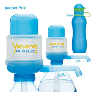 Paquet Special |  2 Pump Young Collection bleue plus Viv Bouteile 500ml bleue | Artikel-Nummer: 2 YCBplusVIV