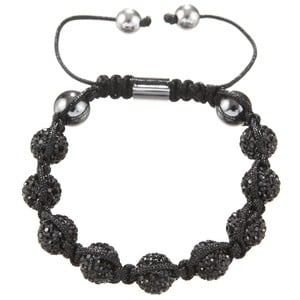 BLACK DIAMOND | Original Hussaya Armband in schwarz | Artikelnummer: HS-CS-BLK