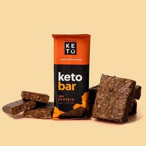 Keto Bar - der Riegel von perfect KETO | einzelner Riegel, Mandelbutter Brownie