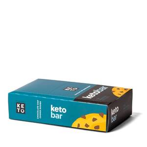 Keto Bar - der Riegel von perfect KETO  | 12er Pack, chocolate chip cookie dough