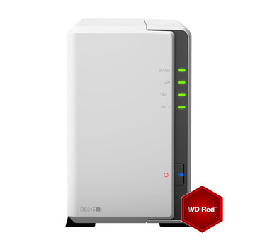Synology DS215j incl. 12TB (2 x 6TB) WD RED HDD NAS RAID Server Bundle | ab Lager lieferbar! | Artikelnummer: DS215j2x6TBWDRED