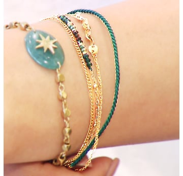 ARMBAND, gold green ribbon |  | Artikelnummer: 103853803