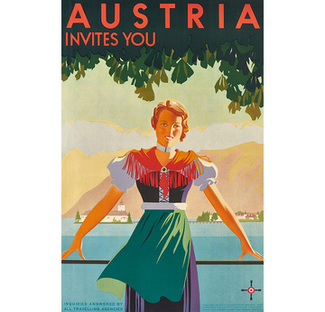 Advertising poster 1934 | Austria invites you | Artikelnummer: PODE-PI-2488-A4