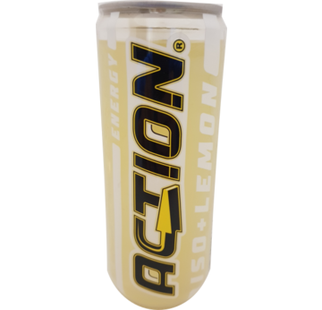 ACTION ISO Lemon isotonischer Energy Drink 315ml DPG | MHD 14.12.18 | Artikelnummer: 404807