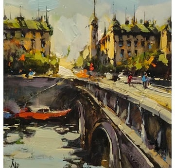 Bridge over the river Seine | 25 x 25 cm | Artikelnummer: KOGEA178