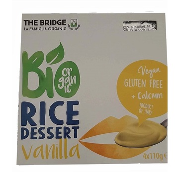 The Bridge Rice Dessert Vanilla BIO 4x110g | MHD 10.09.19 | Artikelnummer: 100546