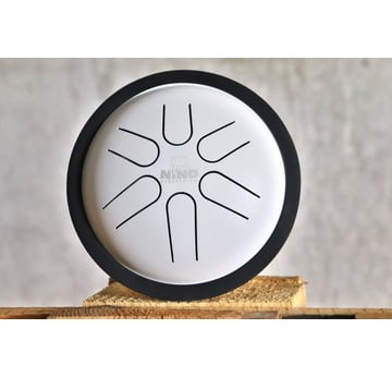 NINO Percussion Mini Melody Steel Tongue Drum weiß | NINO980WH | Artikelnummer: NINO980WH
