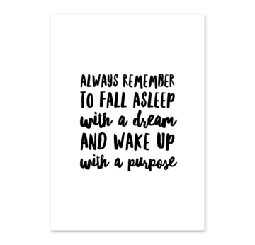 Artprint A4 ''always remember'' |  | Artikelnummer: 17