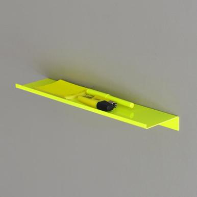 Z Shelf von kolor | steel powder coated Neon Yellow size 40 x 10 cm | Artikelnummer: 15.01s