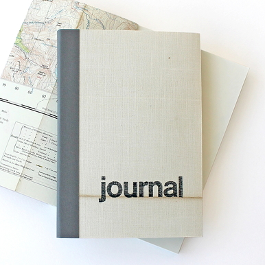 Travel Journal von sukie — Vintage Karten | Linen Map grau / Linen Map grey | Artikelnummer: Linen_grau