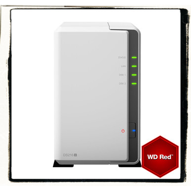 Synology DS216j incl. 6TB (2 x 3TB) WD RED NAS RAID Server Bundle | ab Lager lieferbar! | Artikelnummer: DS216j 2-Bay 6 TB