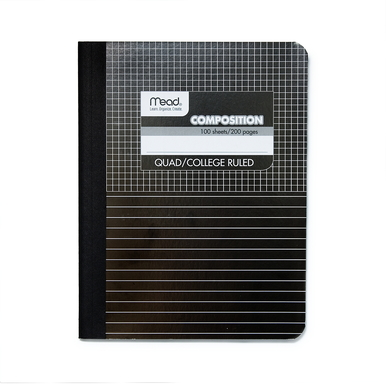 Mead Composition Book – kariert und liniert / Squared and ruled |  | Artikelnummer: 9000