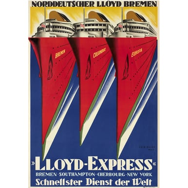 Lloyd Express | Advertising Poster 1929 | Artikelnummer: POD-PI-2909-A3
