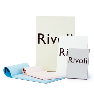 Rivoli A5 Block  / A5 writing pad | Hellgrau / Light grey | Artikelnummer: 990.513.a5.grau